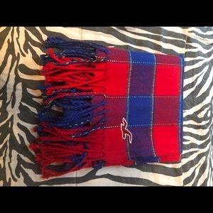 hollister plaid blanket scarf .